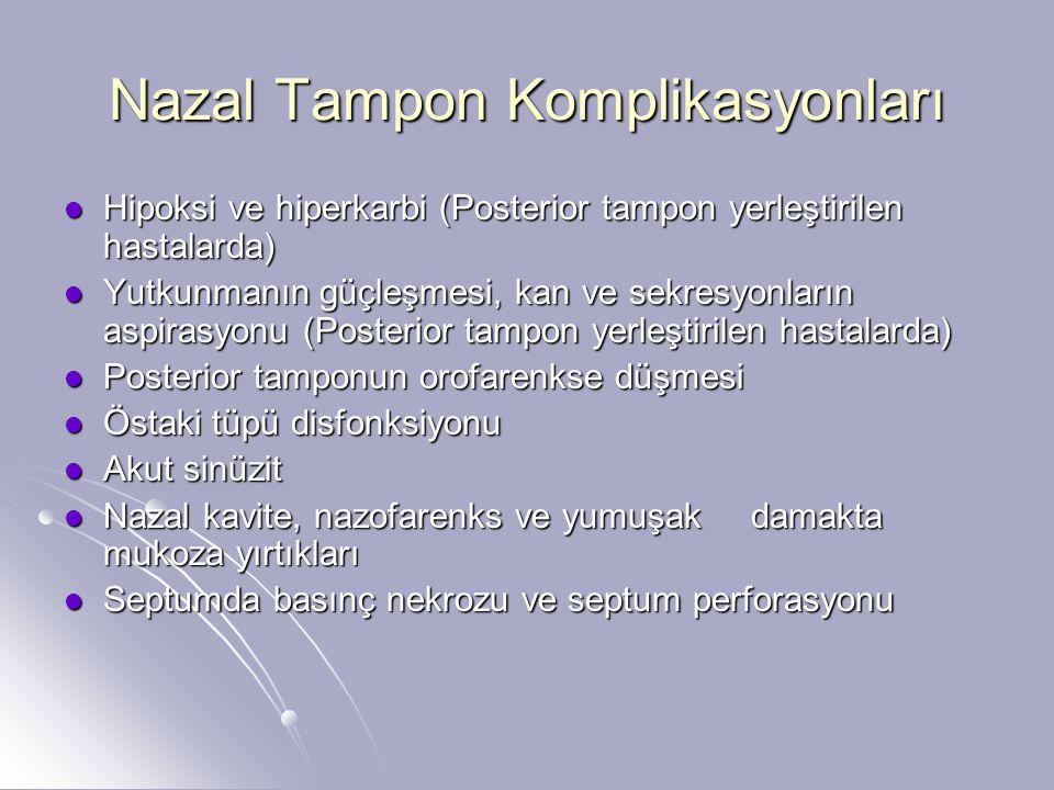 Nazal Tampon Komplikasyonları