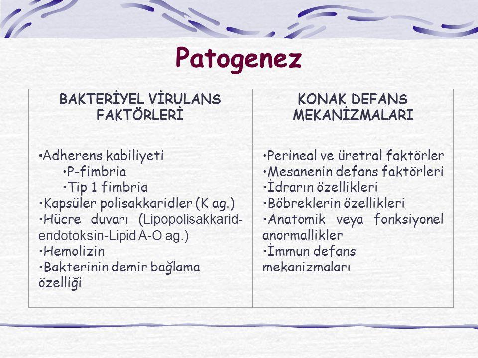 Patogenez BAKTERİYEL VİRULANS FAKTÖRLERİ KONAK DEFANS MEKANİZMALARI