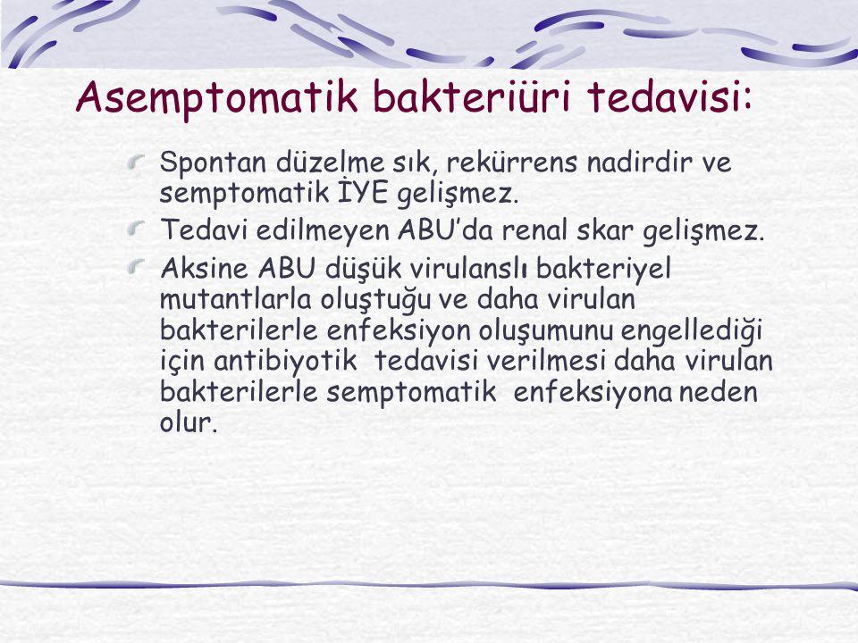 Asemptomatik bakteriüri tedavisi: