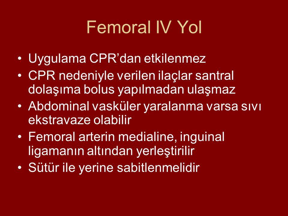 Femoral IV Yol Uygulama CPR'dan etkilenmez