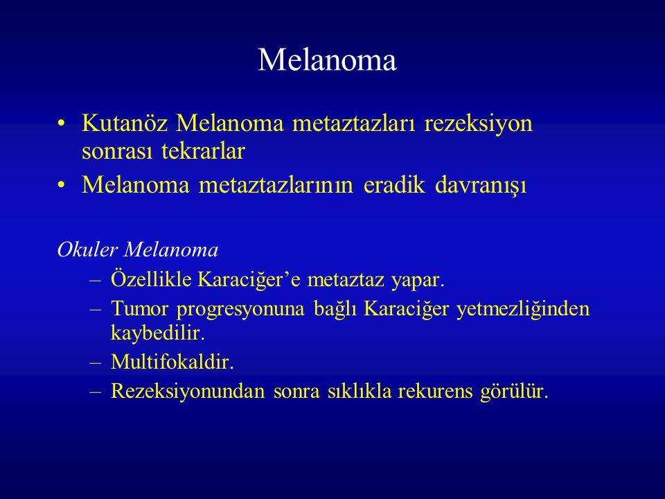 Melanoma Kutanöz Melanoma metaztazları rezeksiyon sonrası tekrarlar