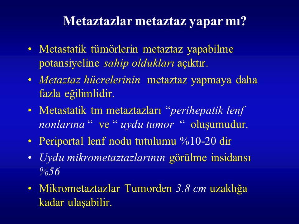 Metaztazlar metaztaz yapar mı