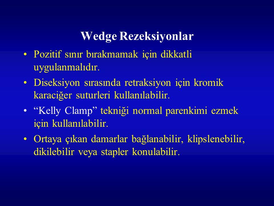 Wedge Rezeksiyonlar Pozitif sınır bırakmamak için dikkatli uygulanmalıdır.