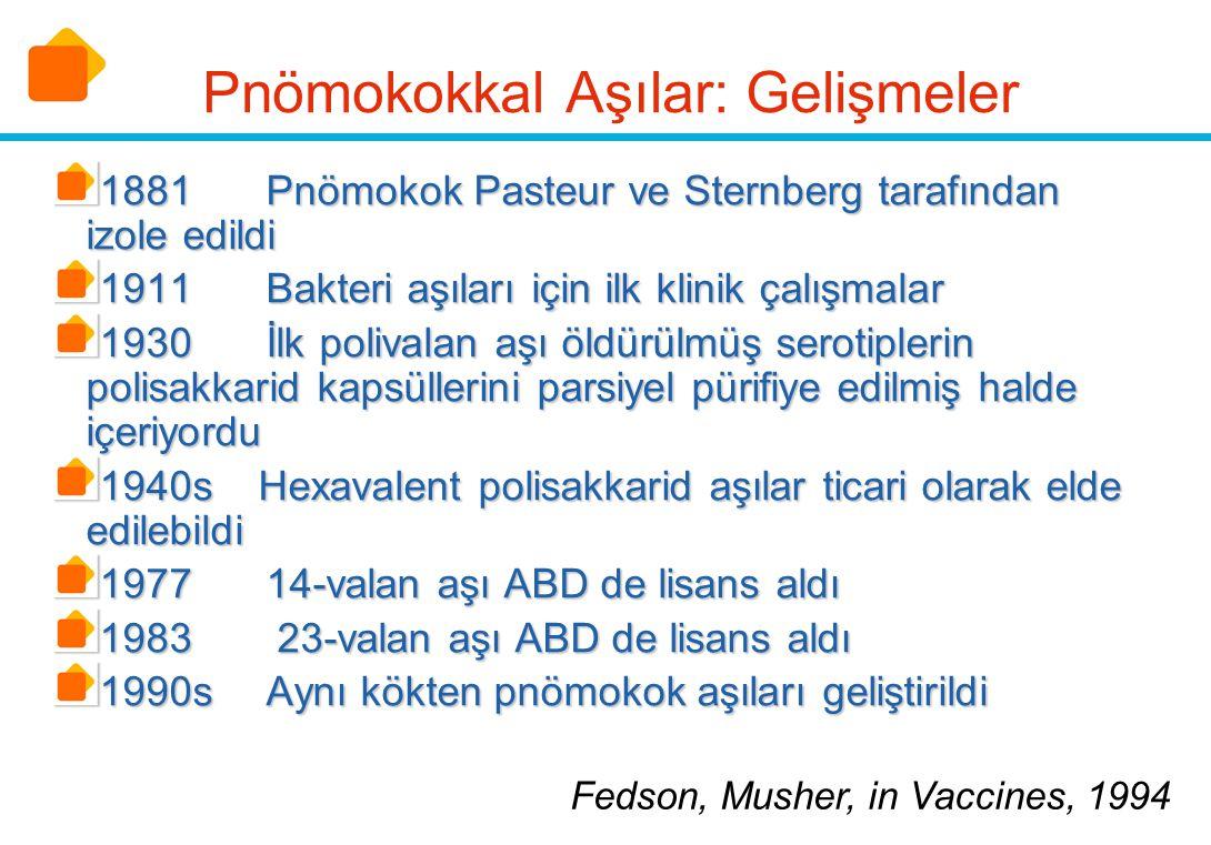 Pnömokokkal Aşılar: Gelişmeler