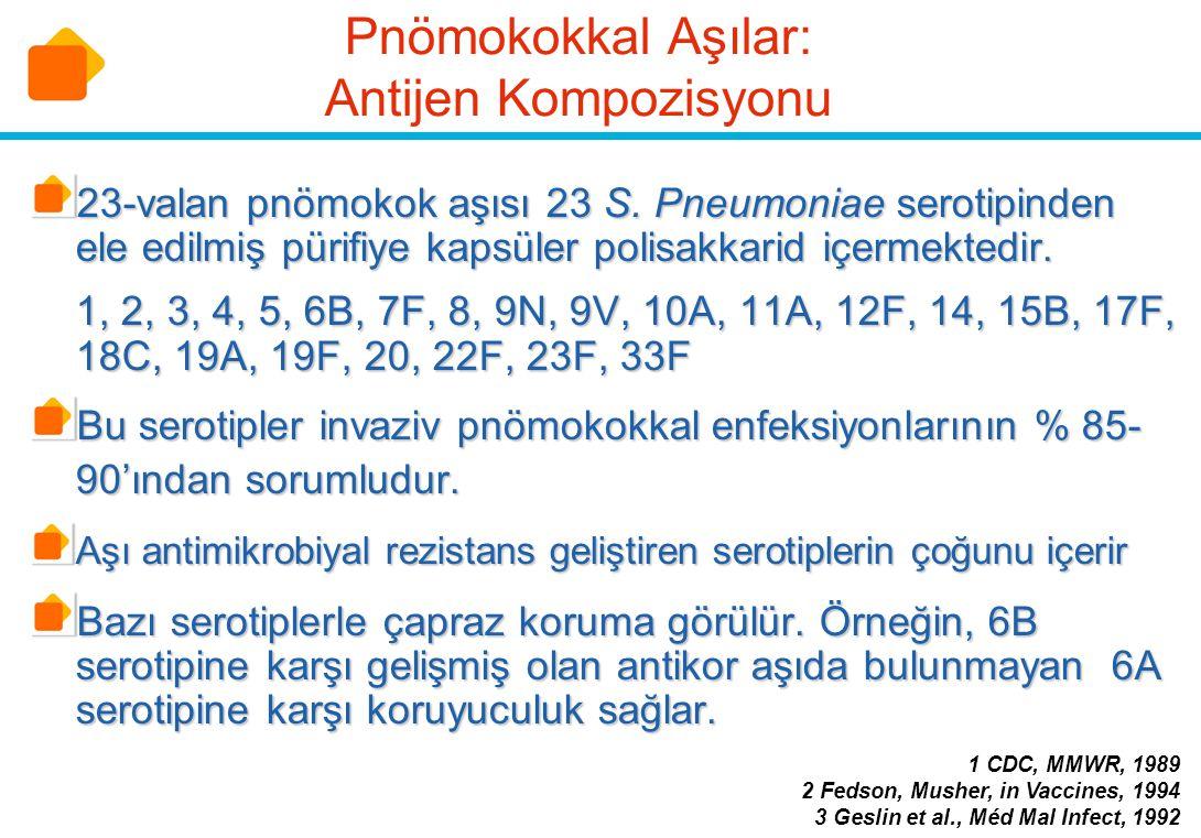 Pnömokokkal Aşılar: Antijen Kompozisyonu