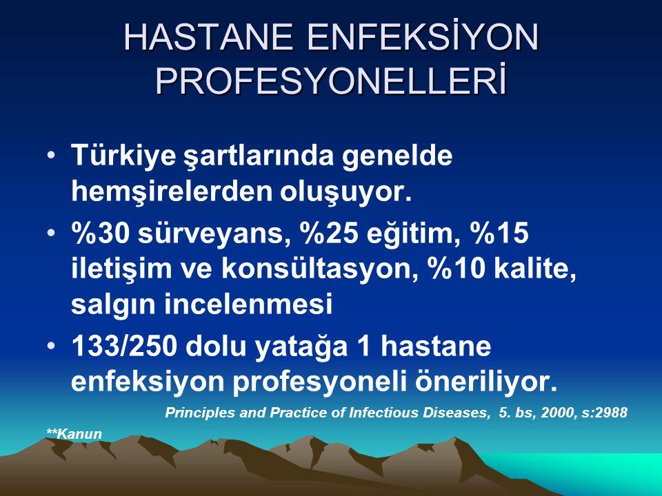 HASTANE ENFEKSİYON PROFESYONELLERİ