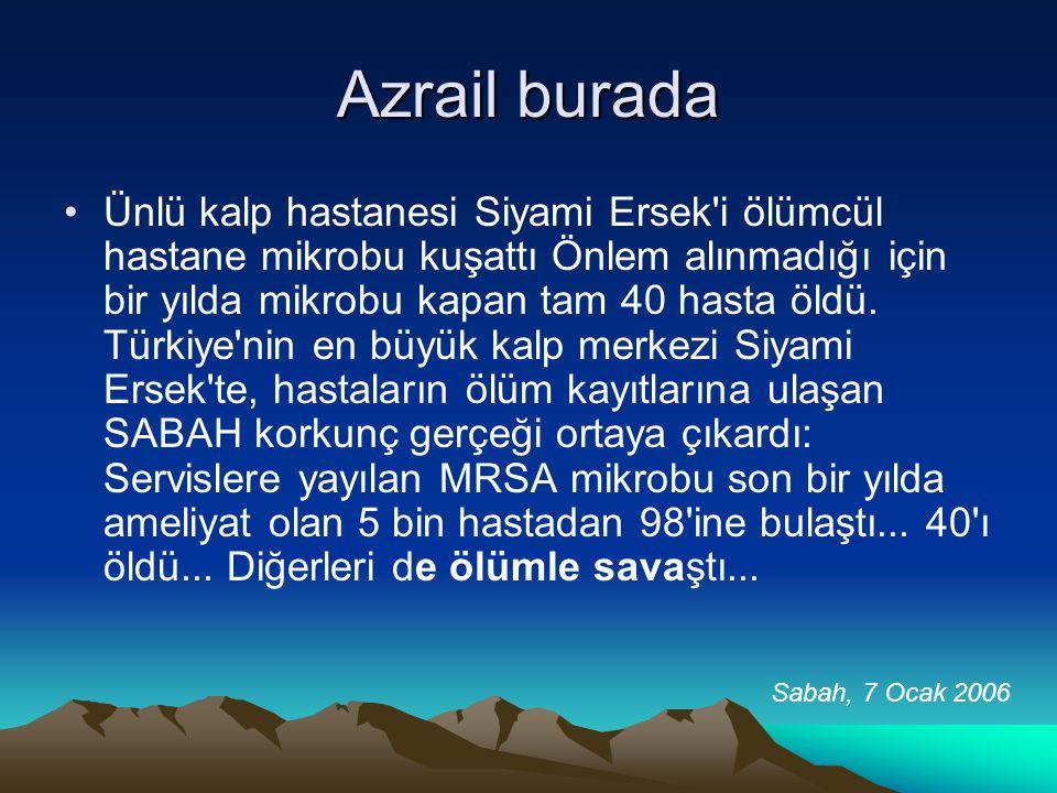 Azrail burada