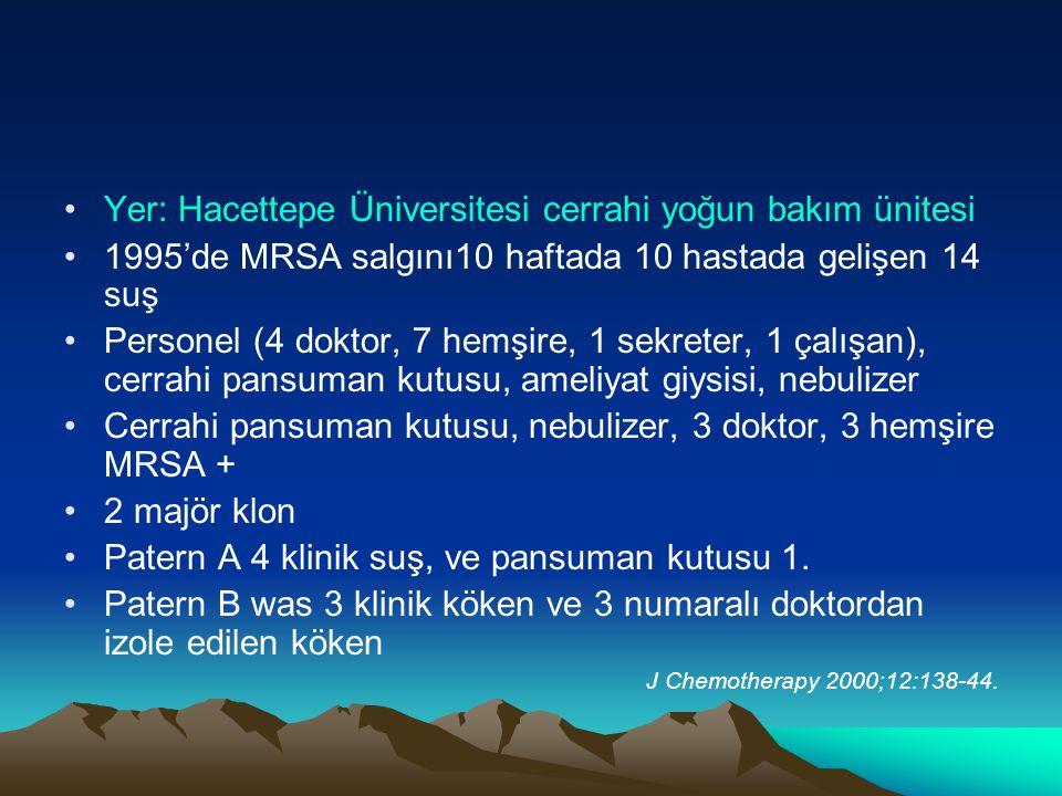 Yer: Hacettepe Üniversitesi cerrahi yoğun bakım ünitesi