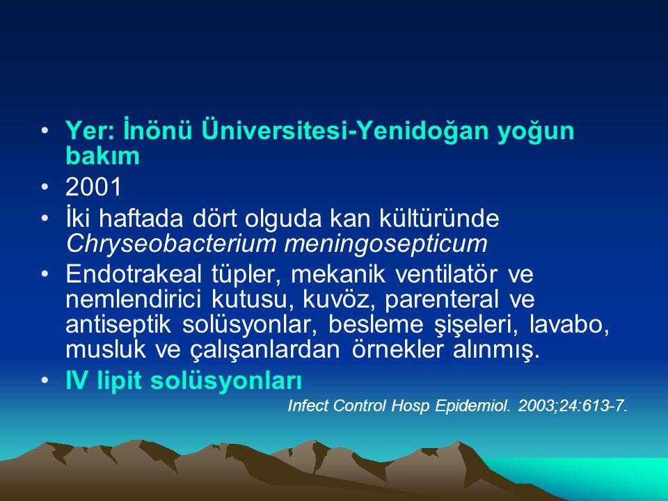 Yer: İnönü Üniversitesi-Yenidoğan yoğun bakım 2001