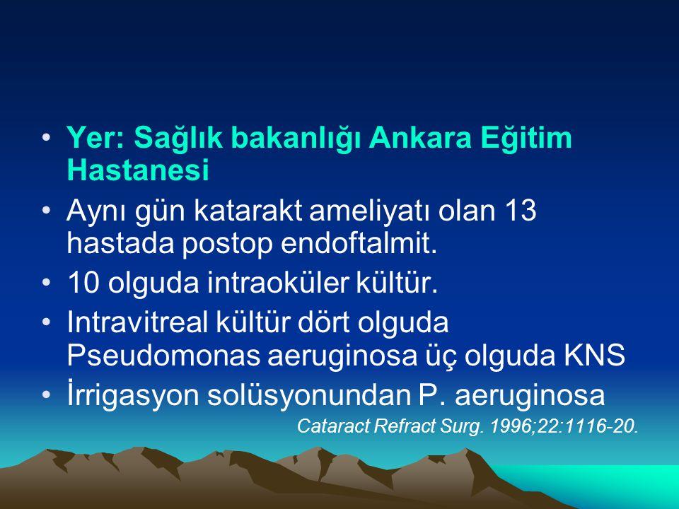 Yer: Sağlık bakanlığı Ankara Eğitim Hastanesi
