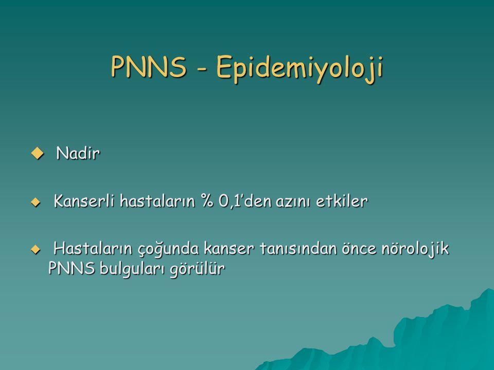 PNNS - Epidemiyoloji Nadir Kanserli hastaların % 0,1'den azını etkiler