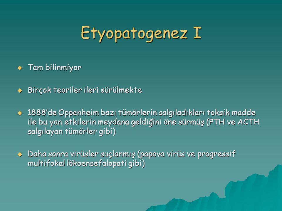 Etyopatogenez I Tam bilinmiyor Birçok teoriler ileri sürülmekte