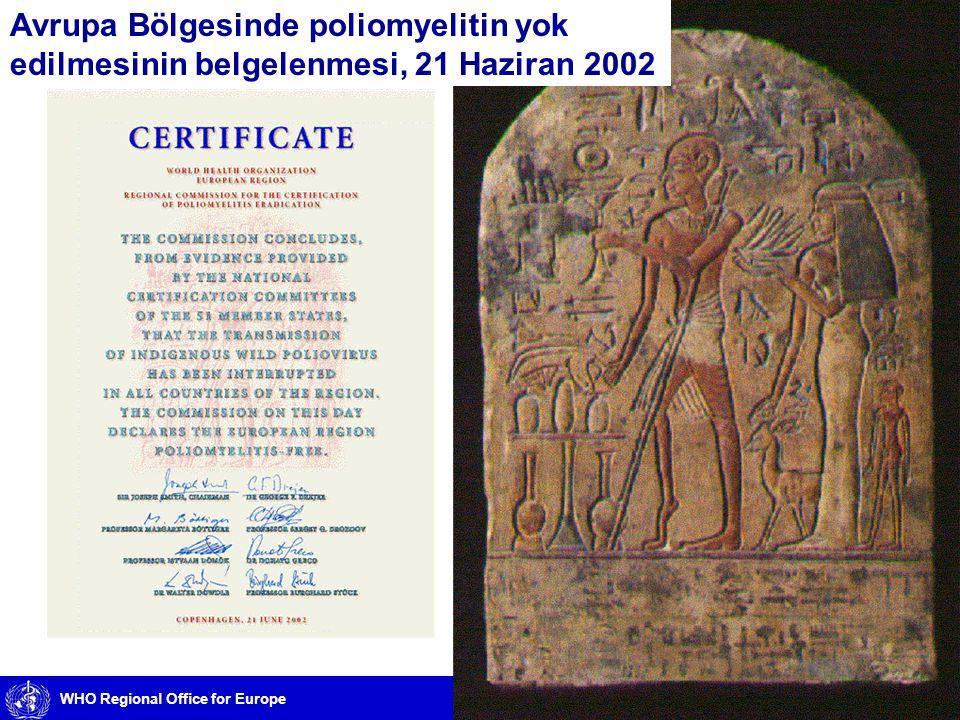 Avrupa Bölgesinde poliomyelitin yok edilmesinin belgelenmesi, 21 Haziran 2002