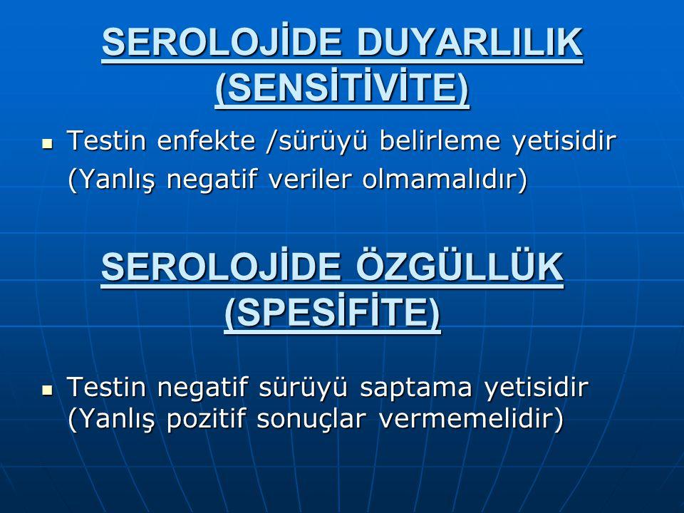 SEROLOJİDE DUYARLILIK (SENSİTİVİTE)