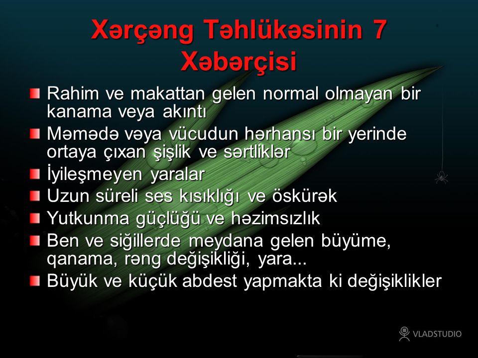 Xərçəng Təhlükəsinin 7 Xəbərçisi