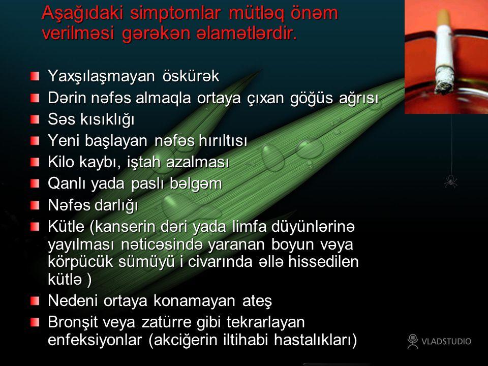 Aşağıdaki simptomlar mütləq önəm verilməsi gərəkən əlamətlərdir.