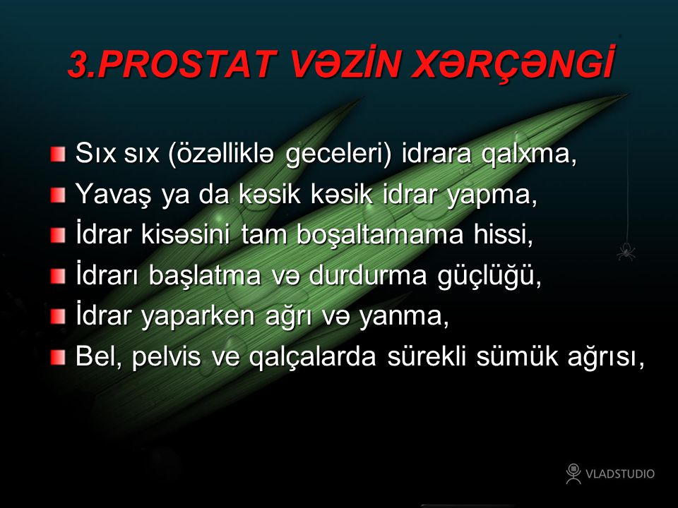 3.PROSTAT VƏZİN XƏRÇƏNGİ