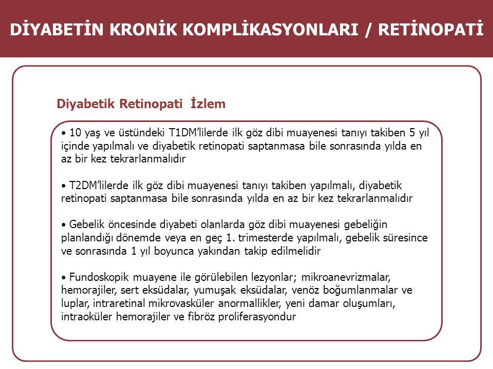 DİYABETİN KRONİK KOMPLİKASYONLARI / RETİNOPATİ