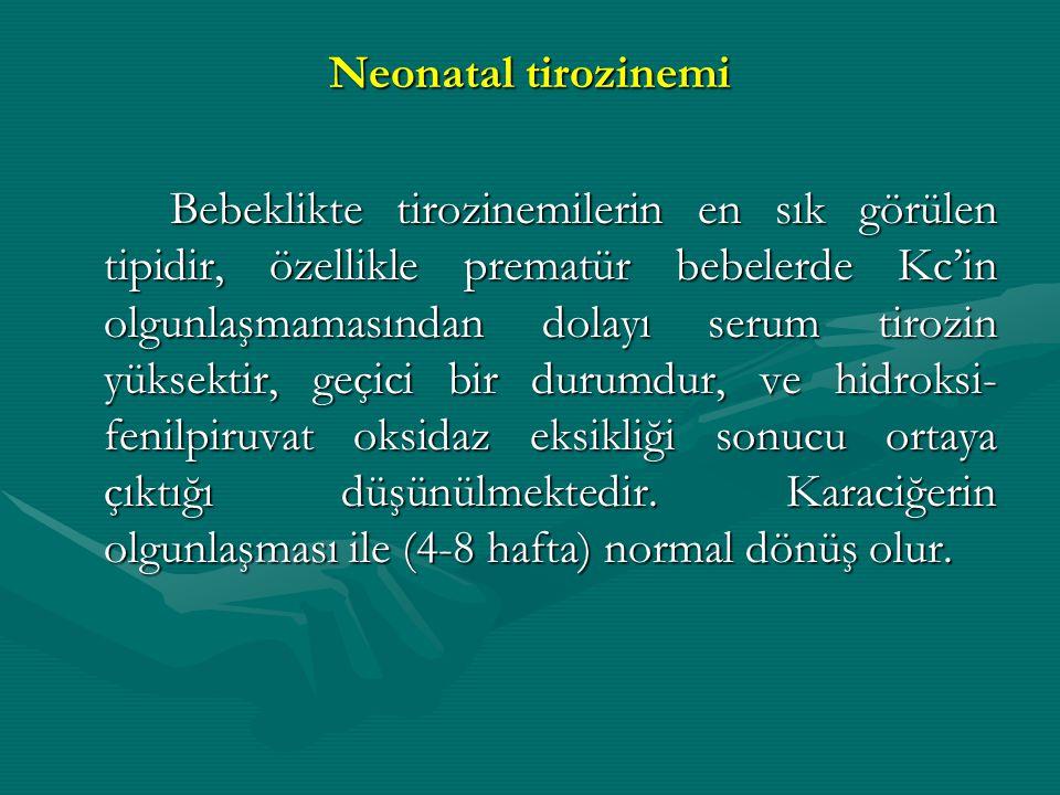 Neonatal tirozinemi