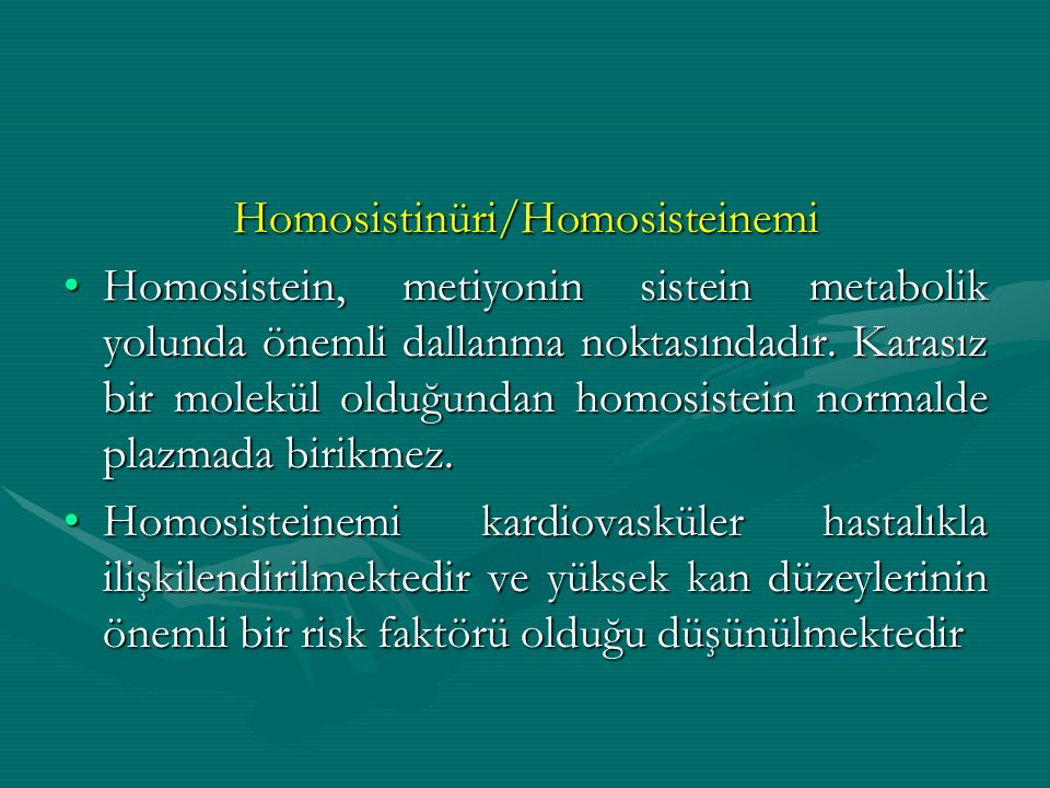 Homosistinüri/Homosisteinemi