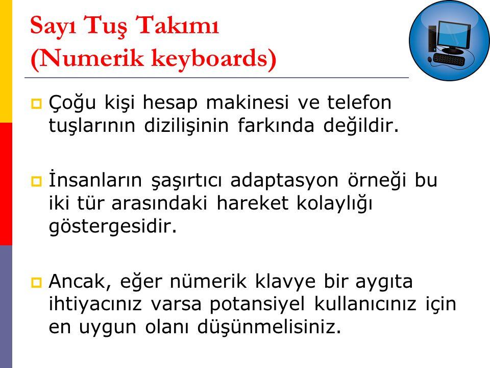 Sayı Tuş Takımı (Numerik keyboards)