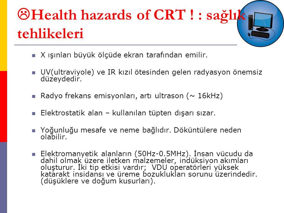 Health hazards of CRT ! : sağlık tehlikeleri