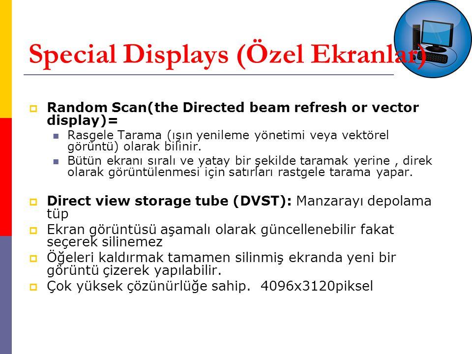 Special Displays (Özel Ekranlar)