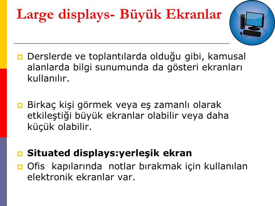 Large displays- Büyük Ekranlar