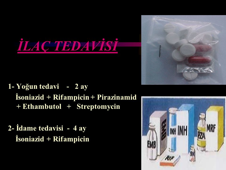 İLAÇ TEDAVİSİ 1- Yoğun tedavi - 2 ay