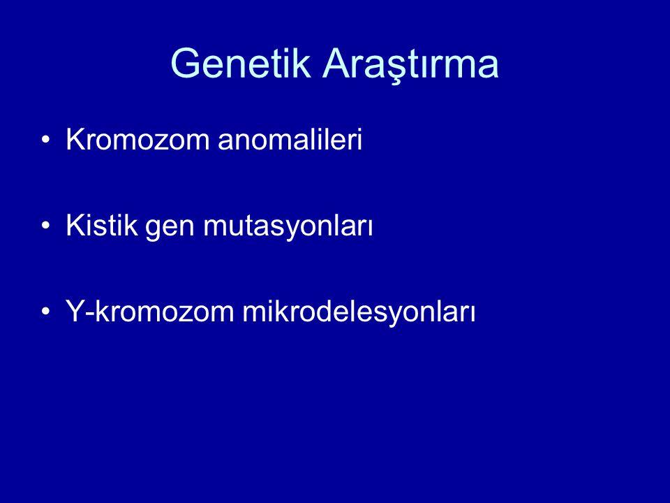 Genetik Araştırma Kromozom anomalileri Kistik gen mutasyonları