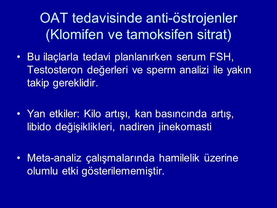 OAT tedavisinde anti-östrojenler (Klomifen ve tamoksifen sitrat)