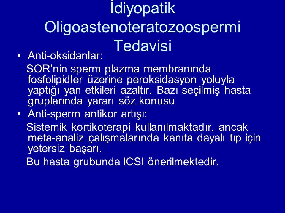 İdiyopatik Oligoastenoteratozoospermi Tedavisi