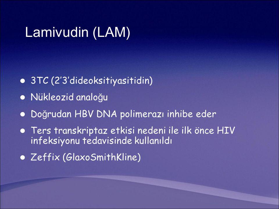 Lamivudin (LAM) 3TC (2'3'dideoksitiyasitidin) Nükleozid analoğu