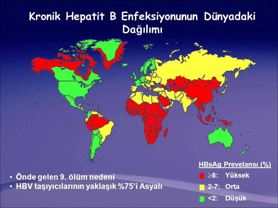 Kronik Hepatit B Enfeksiyonunun Dünyadaki Dağılımı