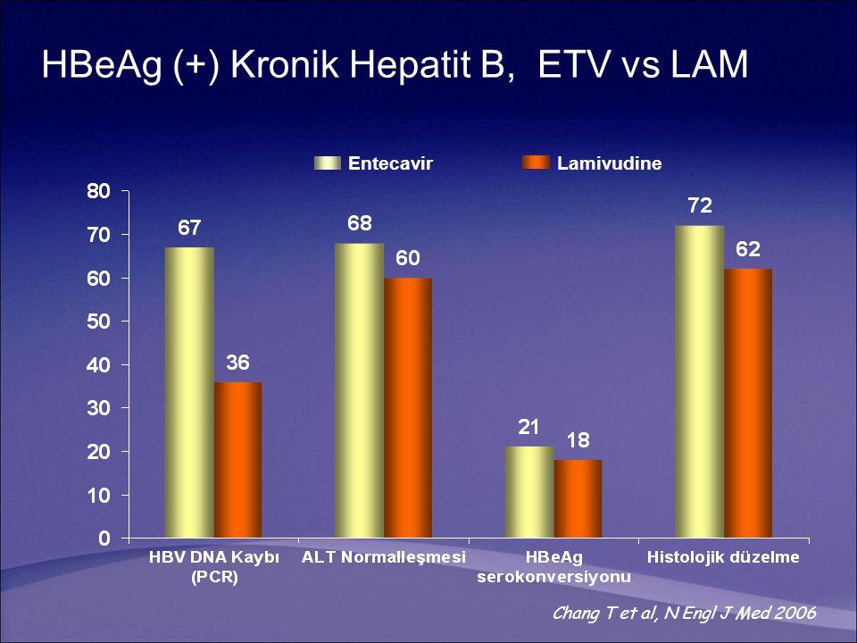 HBeAg (+) Kronik Hepatit B, ETV vs LAM