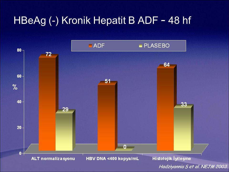 HBeAg (-) Kronik Hepatit B ADF – 48 hf