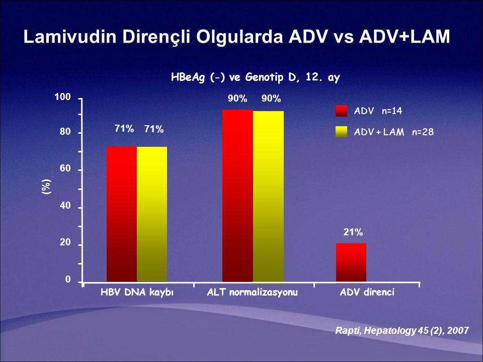 HBeAg (-) ve Genotip D, 12. ay