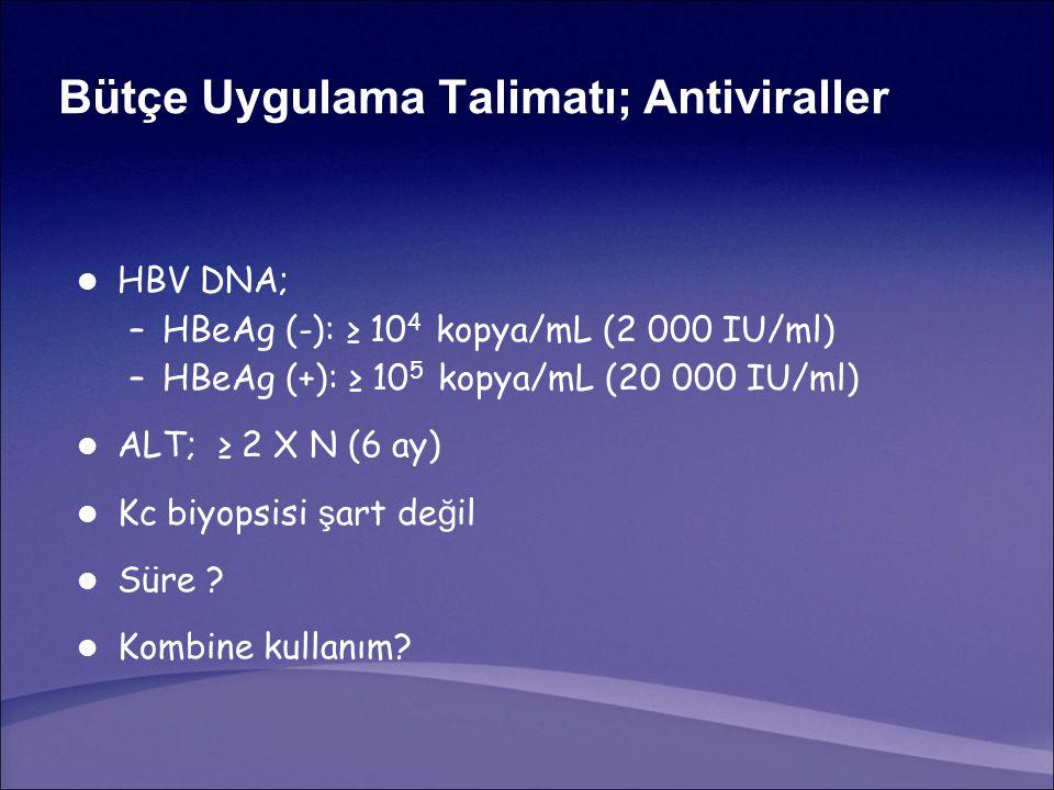 Bütçe Uygulama Talimatı; Antiviraller