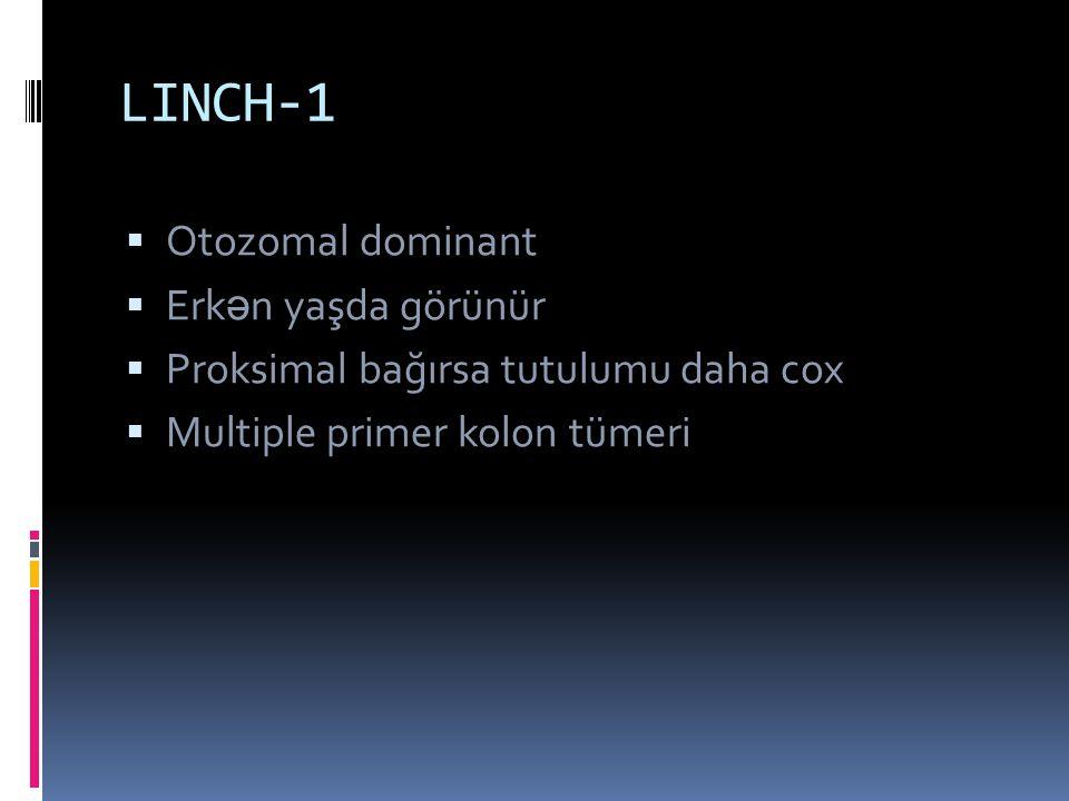 LINCH-1 Otozomal dominant Erkən yaşda görünür