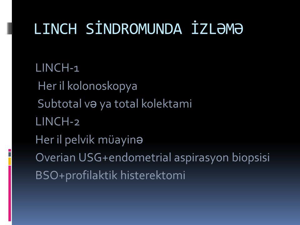 LINCH SİNDROMUNDA İZLƏMƏ