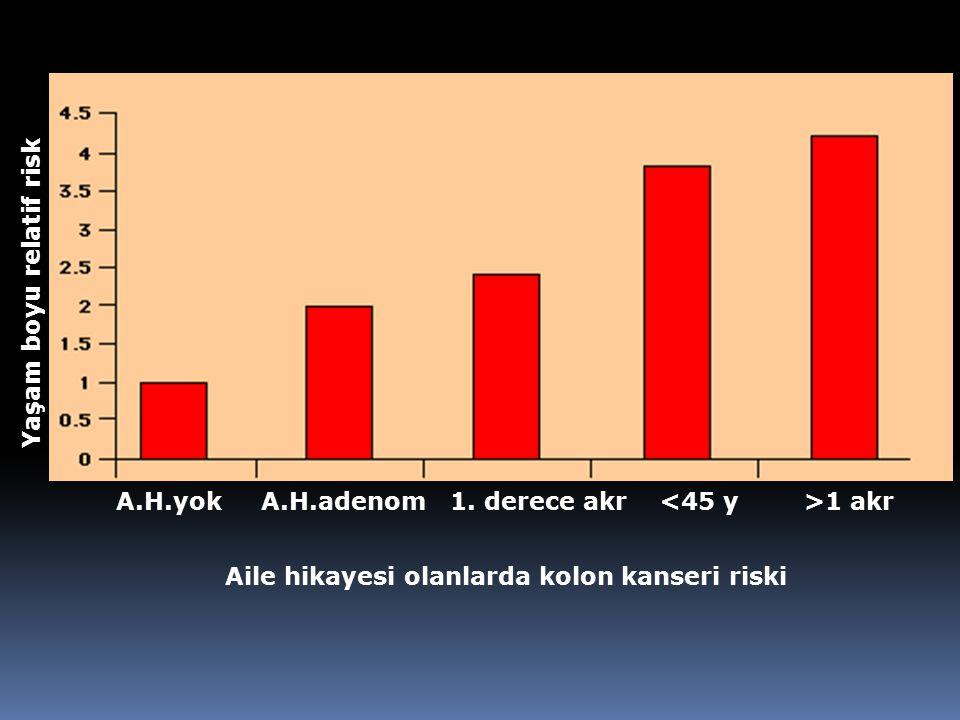 Yaşam boyu relatif risk