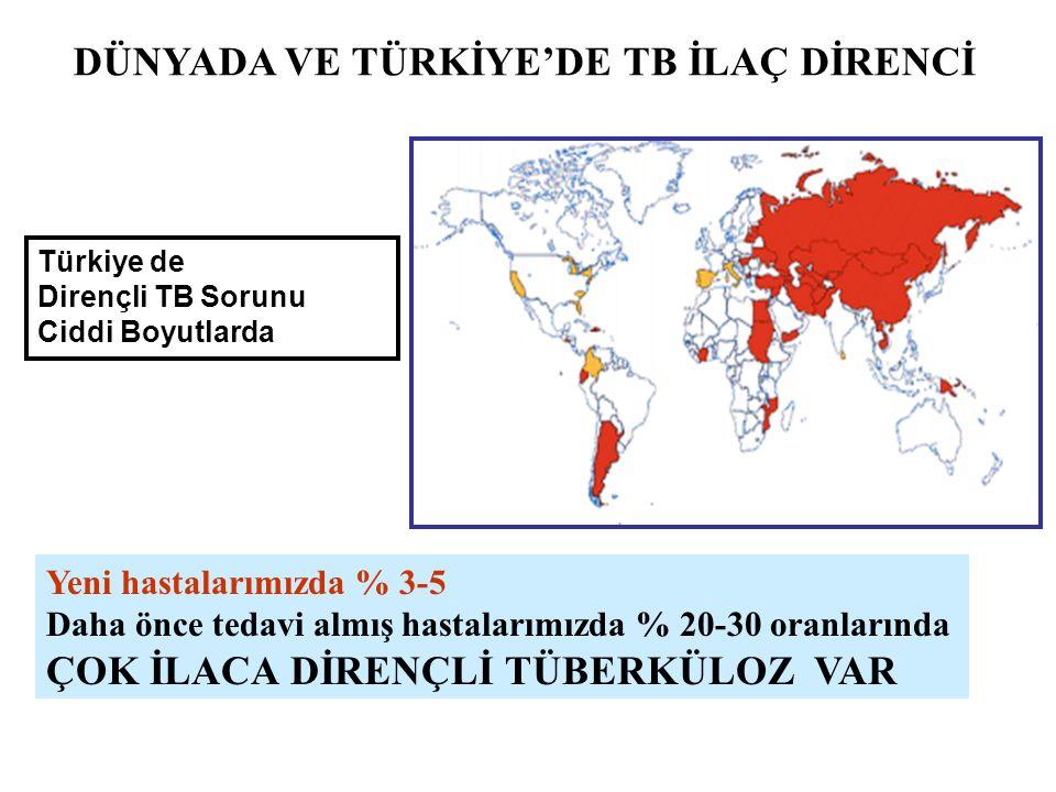 DÜNYADA VE TÜRKİYE'DE TB İLAÇ DİRENCİ