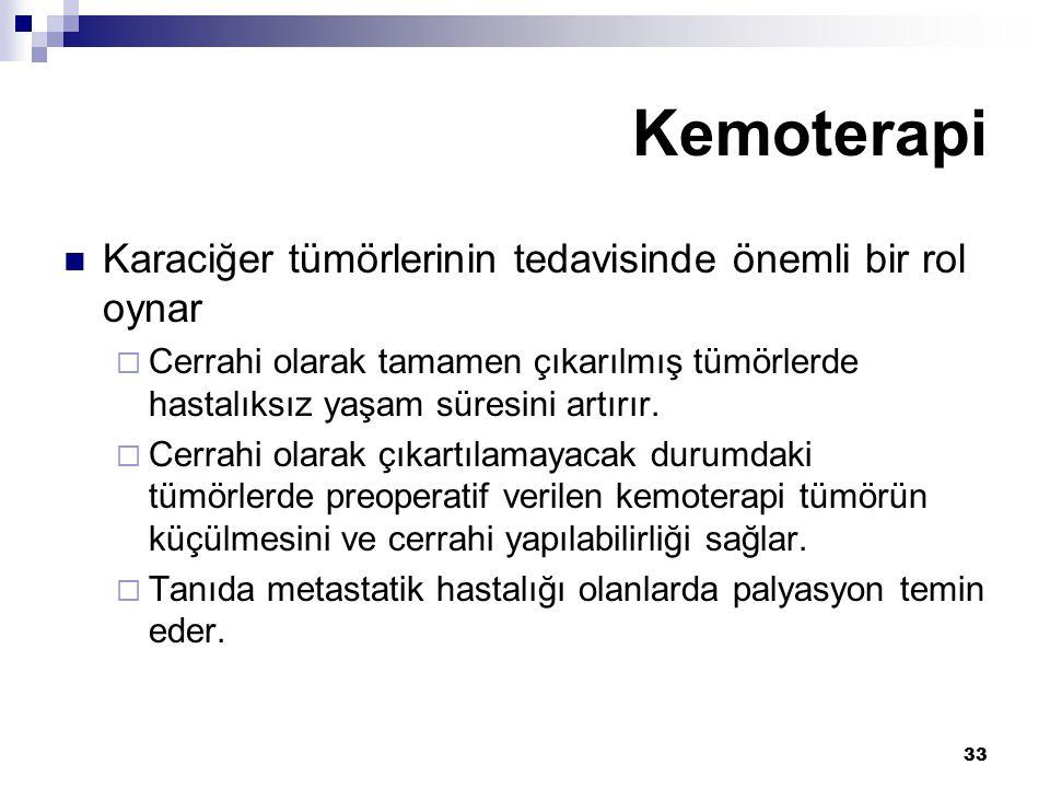 Kemoterapi Karaciğer tümörlerinin tedavisinde önemli bir rol oynar