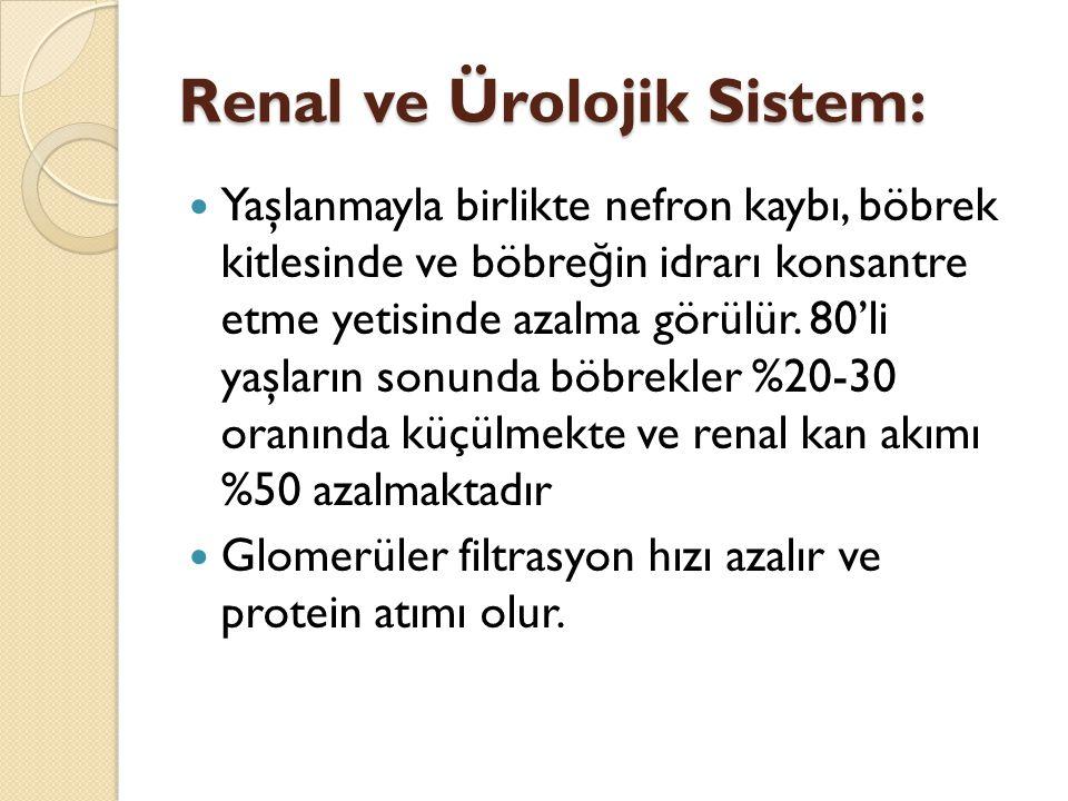 Renal ve Ürolojik Sistem: