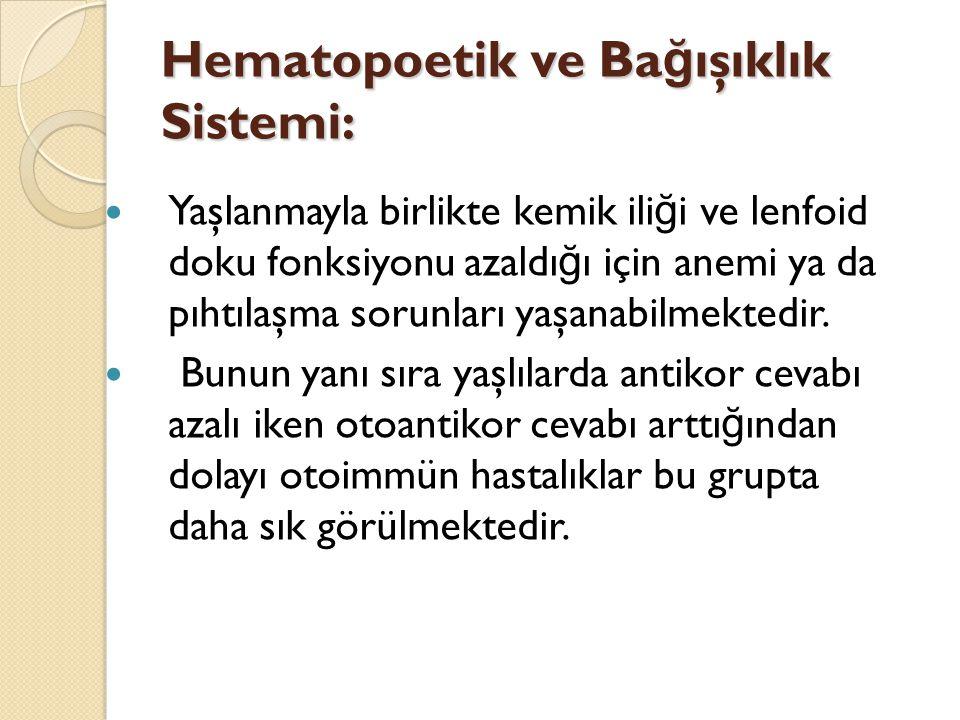 Hematopoetik ve Bağışıklık Sistemi: