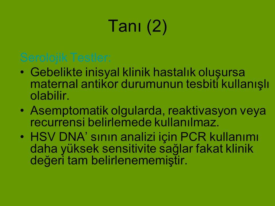 Tanı (2) Serolojik Testler: