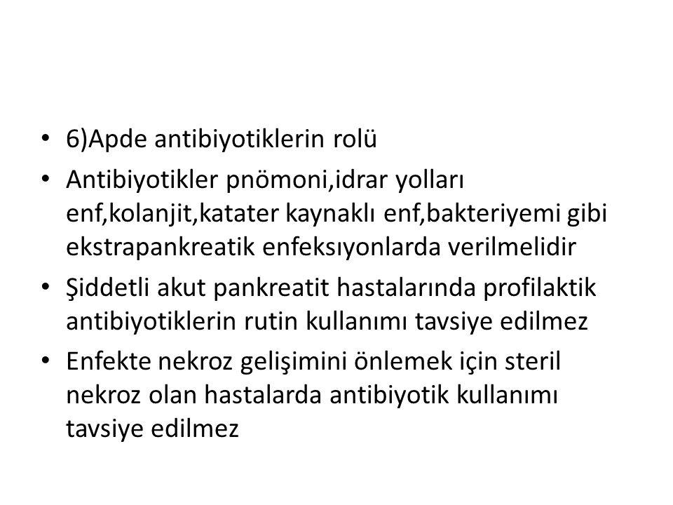 6)Apde antibiyotiklerin rolü