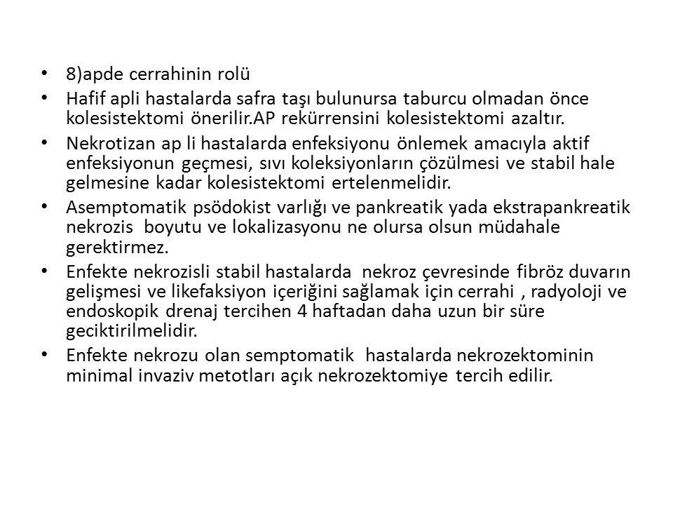 8)apde cerrahinin rolü