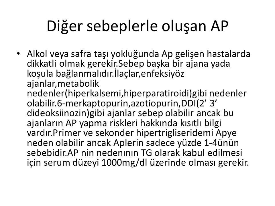 Diğer sebeplerle oluşan AP