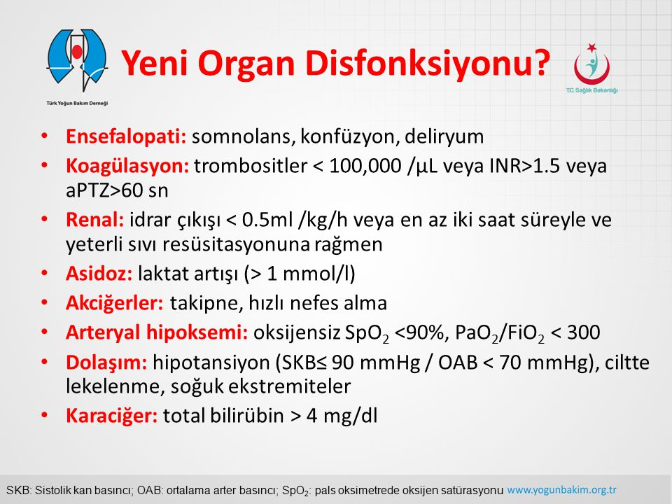 Yeni Organ Disfonksiyonu